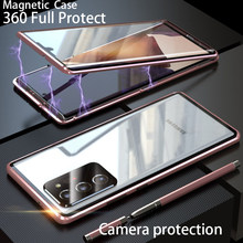 Magnetic Camera protection 360 for Samsung Galaxy Note 20 Ultra S20 fe case cover Funda Metal Glass for Samsung Note 20 Cases