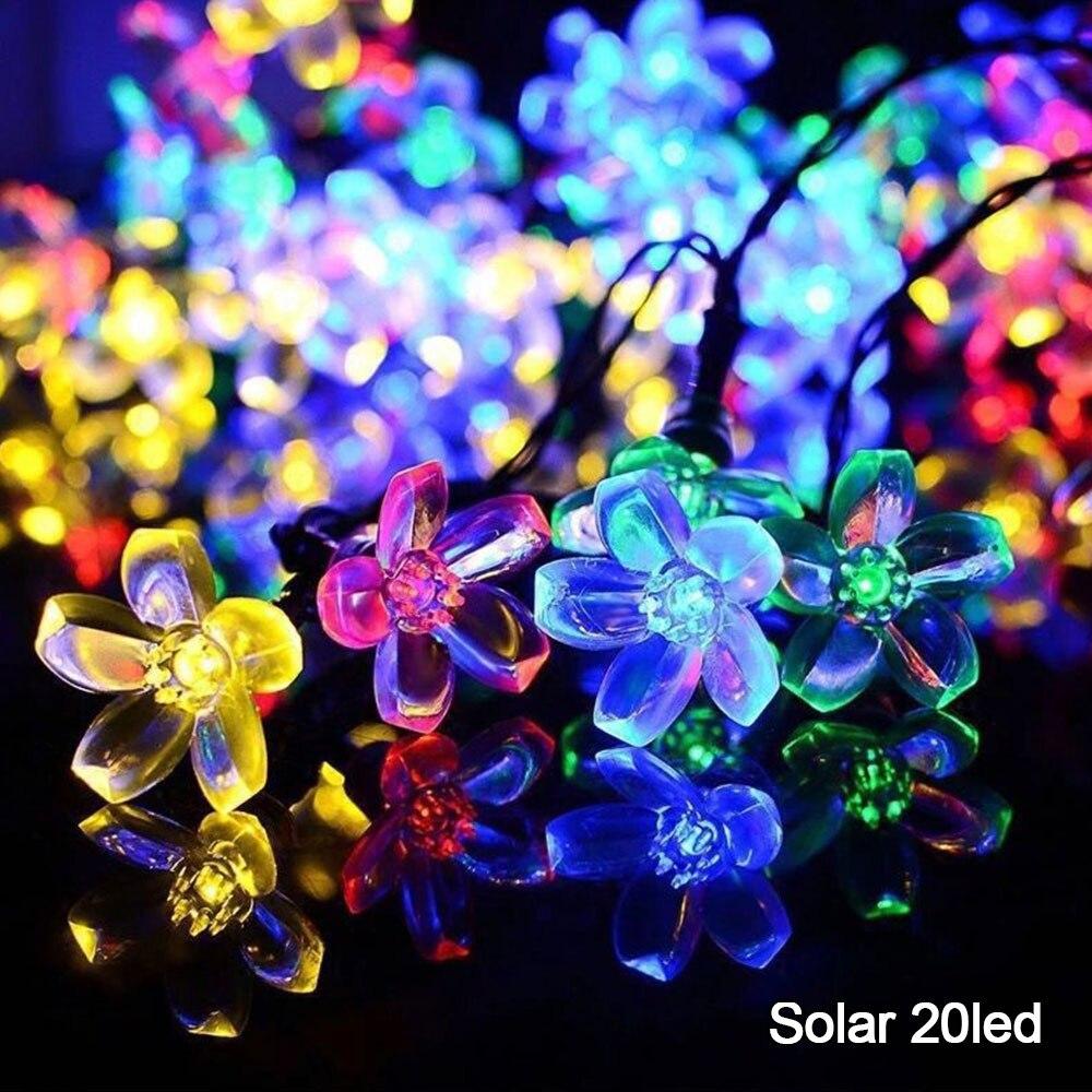 20/40 LED Solar Garden Light Lamp String Light Christmas Fairy Light Waterproof Flower Garland For Street Lawn Patio Decoration