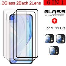 Tempered Glass Screen Protector For Xiaomi Mi 11 Lite Back Hydrogel Film For Xiaomi Mi 11 Lite Camera Film For Mi 11 Lite 5G