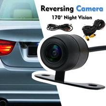 купить High Quality 2019 NEW Car Rear View Camera 4 LED Night Vision Reversing Auto Parking Monitor CCD Waterproof 170 Degree HD Video онлайн