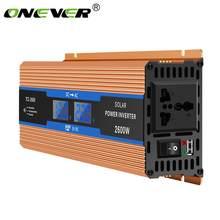 Onever araç invertörü 2600 W DC 12V AC 220V dijital ekran koruma gerilim aşırı yüklere karşı modifiye enerji sinüs dalga