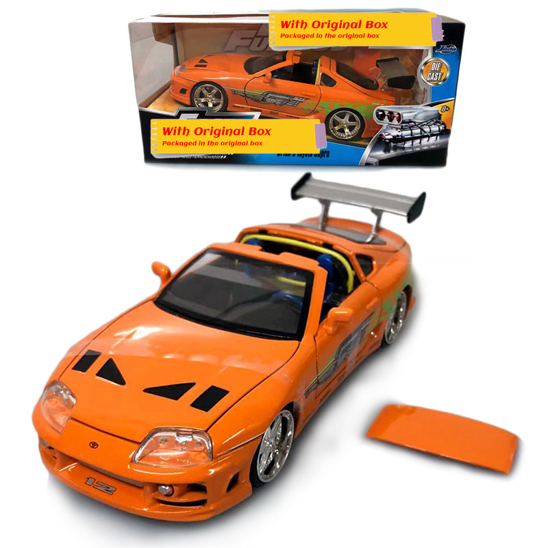 JADA 1/24 Scale Classic Car Model Toyota Supra Diecast Metal Car Model Toy For Collection,Gift,Kids,Decoration