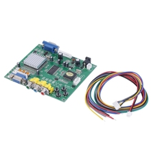 New Cga Ega Rgb To Vga Hd Game Video Converter Board 1 Vga Output Game Convert Gbs8200 V5 Game Accessories 2017 new convertitore analogico digitale convert any analog video