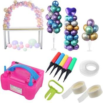 Balloon Accessories Balloons Stand Ballon Arch Baloon Stick air ball pump Bubble balloon chain balloons clips Globos glue dot