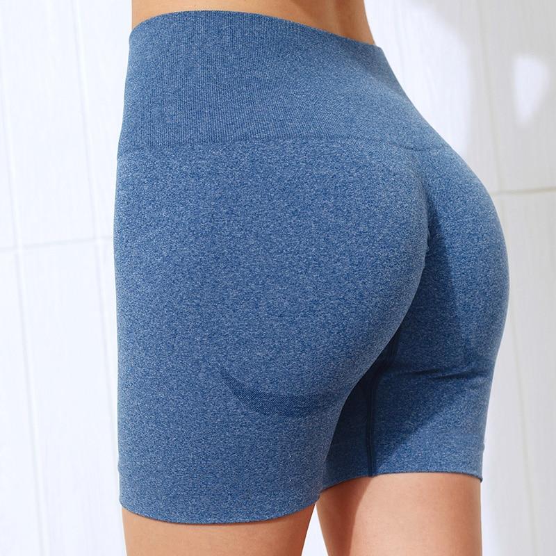 NCLAGEN Seamless Sports Tights Women Summer High Waist Fitness Yoga Shorts Squat Proof Tummy Control GYM
