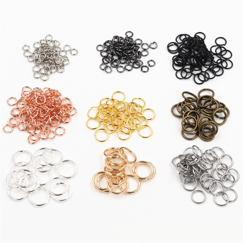 200pcs/Lot 3/4/5/6/7/8/10mm Metal DIY Jewelry Findings Open Single Loops Jump Rings & Split Ring For Jewelry Making
