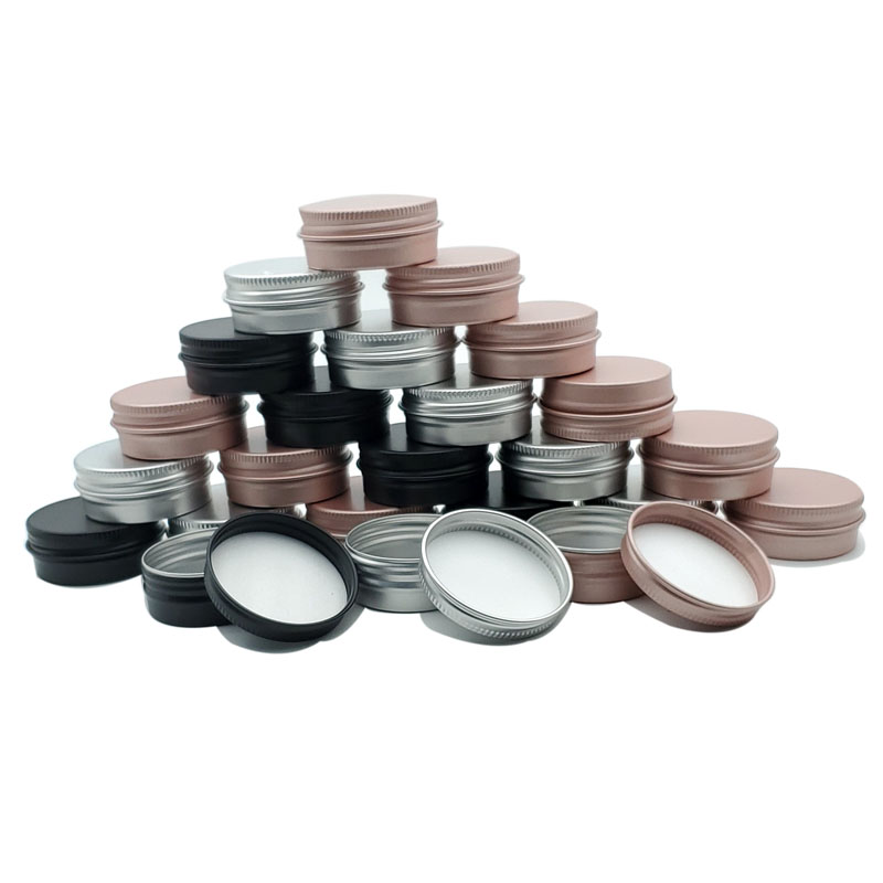 100pcs 5/10/15/20/30/50/60g creme pode, lata de alumínio, condicionador, creme para os olhos da lata pode, recipiente cosmético