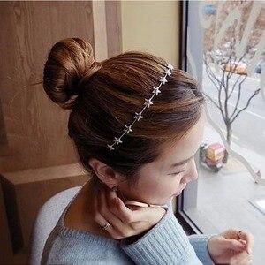 1 шт. повязка на голову в форме звезды, милая повязка на голову для девушек, милый ободок для волос для девочек, женские повязки для волос, мет...