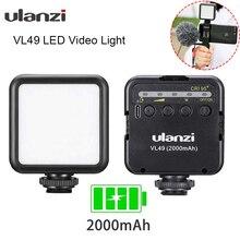 Ulanzi VL49 6W Vlog светодиодный светильник 2000mAh Встроенный аккумулятор 5500K фотографический светильник ing с холодным башмаком 1/4 винт для Vlogging