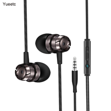 Metal Wired Earphones Mobile Phone Computer universal In-ear Wire Control Headsets Handsfre