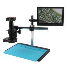 Camera C-Mount lens Lcd-Monitor Video-Microscope Industrial Pcb-Repair Zoom Digital HDMI