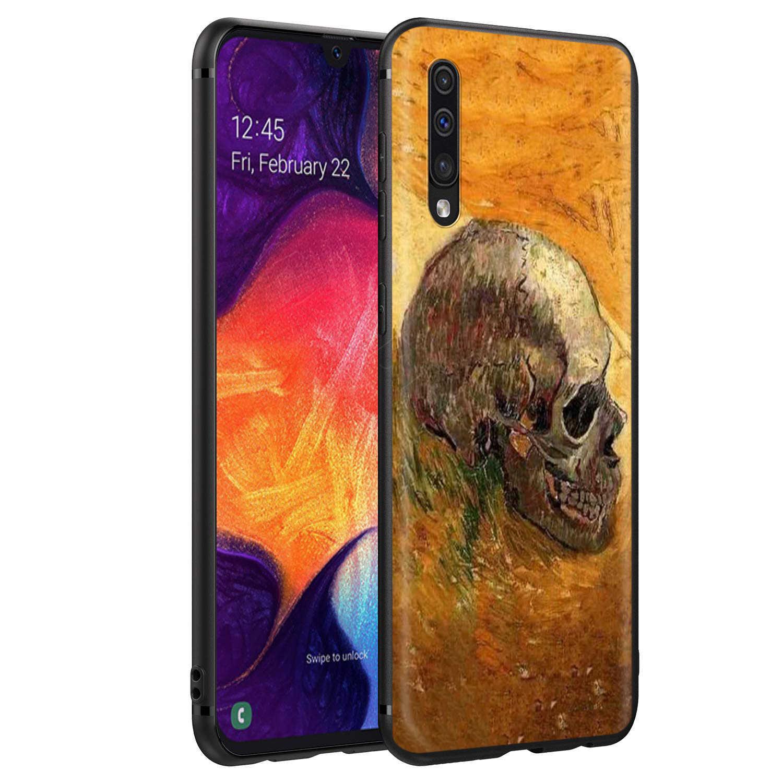 Webbedepp Van Gogh Đầu Lâu TARDIS Ốp Lưng Dành Cho Samsung Galaxy Samsung Galaxy S7 S8 S9 S10 Plus Edge Note 10 8 9 A10 a20 A30 A40 A50 A60 A70