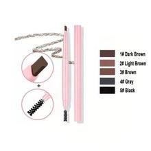 50pcs/lot Wholesale Pink Eyebrow Pencil Multifunction Makeup Waterproof Brow Pencil Eyebrow Tint Private Label Cosmetics