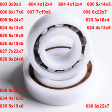 4PCS POM Kunststoff Glas Kugellager Isolierung 603 604 605 606 607 608 609 623 624 625 626 627 628 629 634 635 636