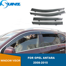 Deflectores de ventana lateral para Opel Antara 2008, 2009, 2010, 2011, 2012, 2013, 2014, 2015, visera de ventana, parabrisas, protectores de lluvia SUNZ