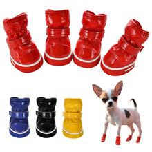 Zimowe buty dla psów dla małych psów ciepłe polar Puppy obuwie dla zwierząt wodoodporna pies śnieg buty Chihuahua Yorkie buty produktów dla zwierząt domowych w tanie tanio Holapet CN (pochodzenie) Red Blue Yellow Black 1 2 3 4 5 Small Dogs Chihuahua Yorkie