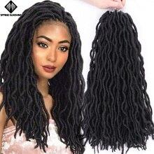 Весна солнце 12 18 дюймов Nu Locs Ombre Faux Locs Curly плетение волос Синтетические крючком косы волос