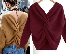 Women Knitted Sweater Long Sleeve Solid Loose Jumper female Pullover Knitwear Fashion Tops
