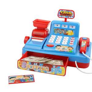 Toy Cash-Register Play Market Simulated Pretend Kids Gift Child Puzzle Music-Light Early-Educational