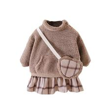 Dresses Princess-Dress Winter 1-Year-Old Toddler Girl Girls Baby Fashion Warm Fall Autumn