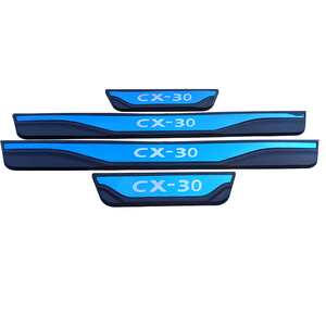 Image 5 - Acessórios da capa do peitoril da porta do carro para mazda Cx 30 cx30 cx 30 protetor de pedal scuff aço inoxidável estilo adesivo 2019 2020