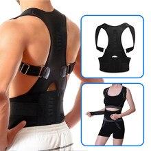 Correcteur de Posture magnétique réglable, Corset, orthèse dorsale, ceinture dorsale, Support lombaire droit, pour hommes et femmes