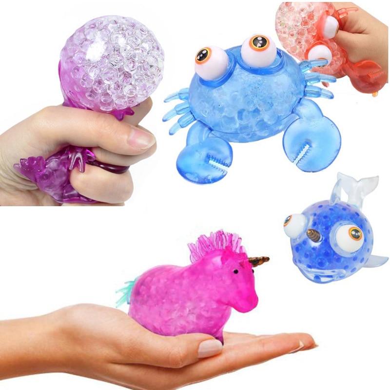 Unicorn Squishy Animal Stress Ball Squeeze Weird Stuff Antistress Fidget Toys For Kids Autism Sensory Therapy Cool Prank Gadgets