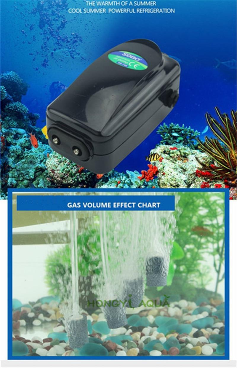 SOBO аквариум кислородный насос рыбное хозяйство аэрационный насос термометр для аквариума воздушный насос воздушный компрессор SB-248A/348A/648/748...