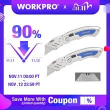 WORKPRO 2 adet katlanır bıçak maket bıçağı hızlı değişim bıçakları bıçak paslanmaz çelik bıçak 10 adet bıçakları
