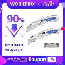 WORKPRO 2PC Folding Messer Utility Messer Schnell Ändern Klingen Messer Edelstahl Messer mit 10PC Klingen