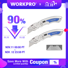 WORKPRO 2PC מתקפל סכין סכיני שירות מהיר שינוי להבי סכיני נירוסטה סכין עם 10PC להבים