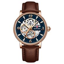 цена на REWARD Military Military Fashion Men Automatic Mechanical Watch Top Luxury Quartz Watches Clock Leather Band  Watch JD-RD33001M