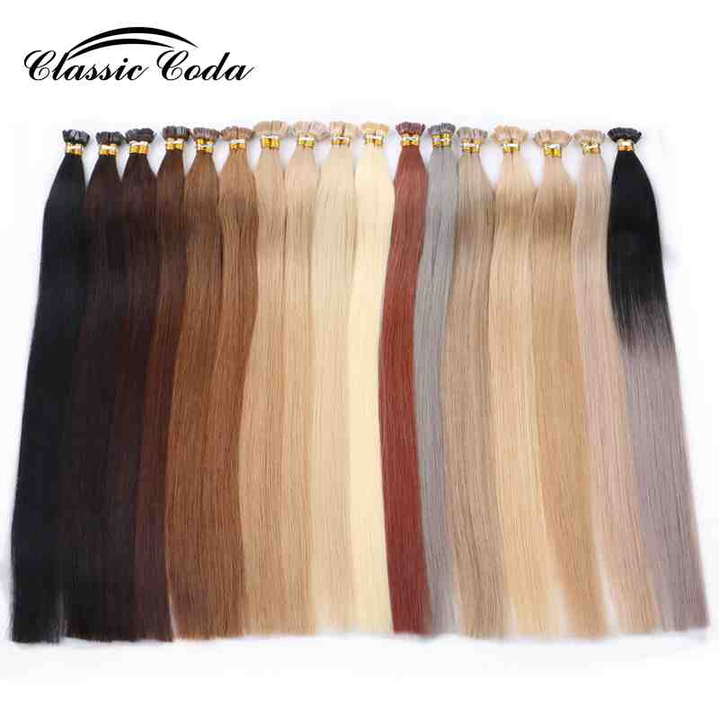 "Classic Coda 22"" Remy Flat Tip Human Hair Extensions 1.0g/s Straight Capsules Keratin Pre Bonded Fusion Hair"