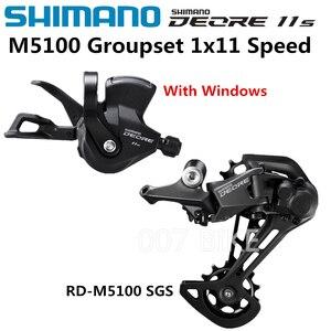 Image 3 - SHIMANO DEORE M5100 grupa sprzętowa SL M5100 dźwignia zmiany biegów + RD M5100 przerzutka tylna MTB DEORE 11 prędkość SL + RD M5100 grupa sprzętowa