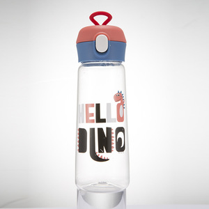 LDFCHENNEL 350/500ML Plastic Sport Bottle For Water Cute Dinosaur Pattern Drinking Bicycle Bottle Children's Water Cups Bpa Free