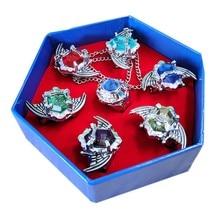 7 pçs moda jóias presentes das mulheres dos homens katekyo hitman renascer vongola anime cosplay asa anéis