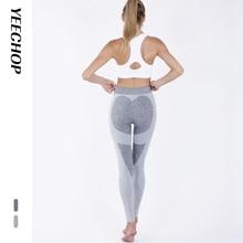 Yeechop Women Workout Seamless Leggings Push Up Fitness Female Fashion Patchwork Mujer S -XL Yoga Sport Pants