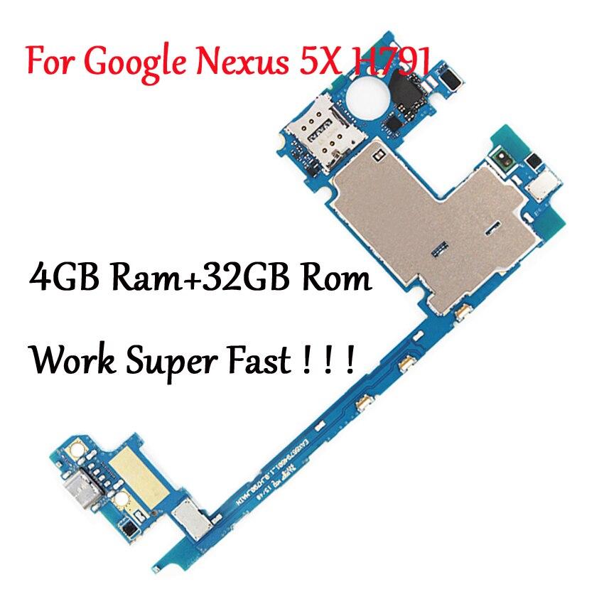 Tested Full Work Original Motherboard For LG Google Nexus 5X H791 H790 32G Logic Circuit Board