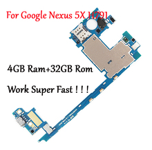 Tested Full Original Motherboard For LG Google Nexus 5X H791 H790 32G Logic Circuit Board Plate Change to 4GB RAM Work Fast