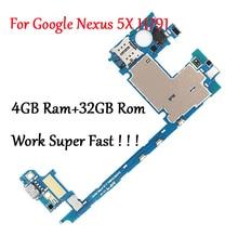 テストフルオリジナルのマザーボードlg電子googleのネクサス5X H791 H790 4 32グラムロジック回路基板プレートに変更ギガバイトramの仕事高速