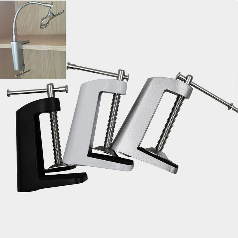 Aluminum Alloy table lamp Cantilever Bracket Clamp stand microphone light holder with Non-slip lights lighting accessories