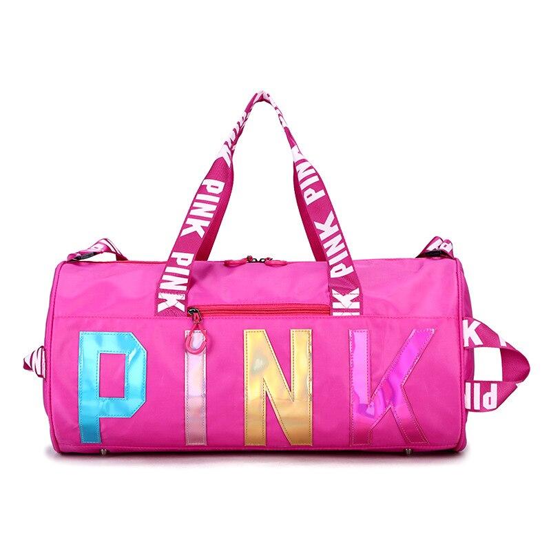 New Sport Bag Large Pink Gym Bag Woman Waterproof Fitness Bag For Men Training Yoga Sac De Sport Femme Travel Bags Sporttas