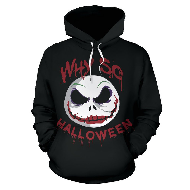 The Nightmare Before Christmas Halloween Pumpkin King Skull Hoodie Sweatshirt Hoody Mens Harajuku Hoodies Men