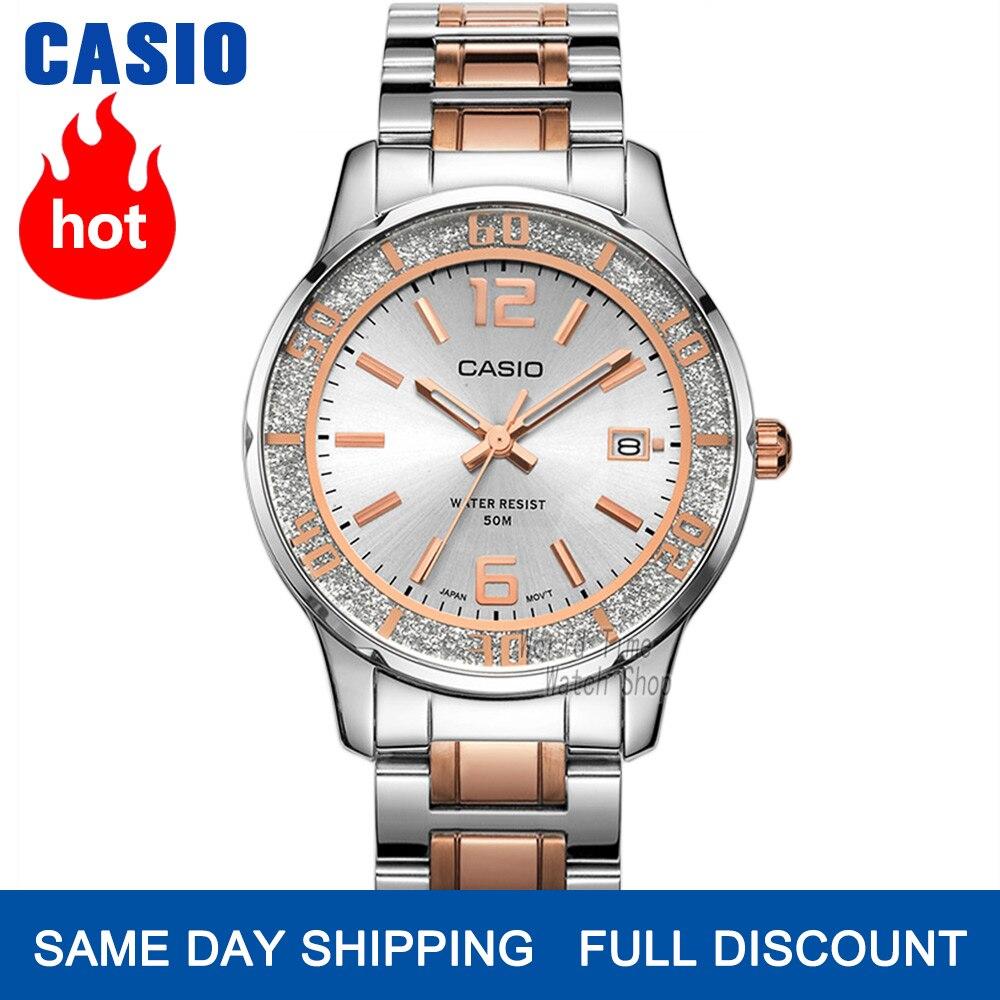 Часы женские Casio наручные часы Set top brand люкс 50м Водонепроницаемые кварцевые наручные часы Светящиеся женские подарки Часы Спортивные часы ж