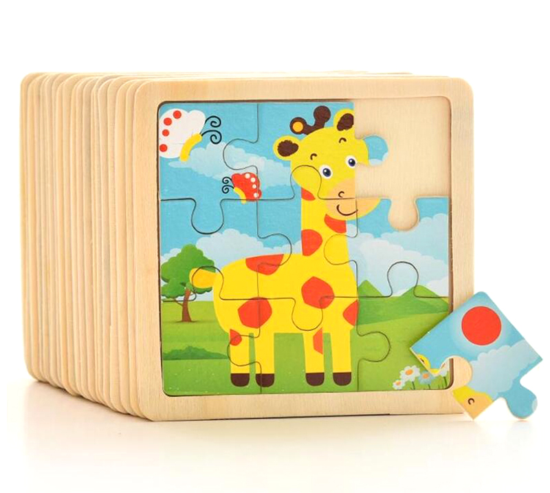 Kid Early Educational Toys Baby Hand Grasp Wooden Puzzle Toy Shape Color Animal Learning Education Child Wood Toy GYH 2