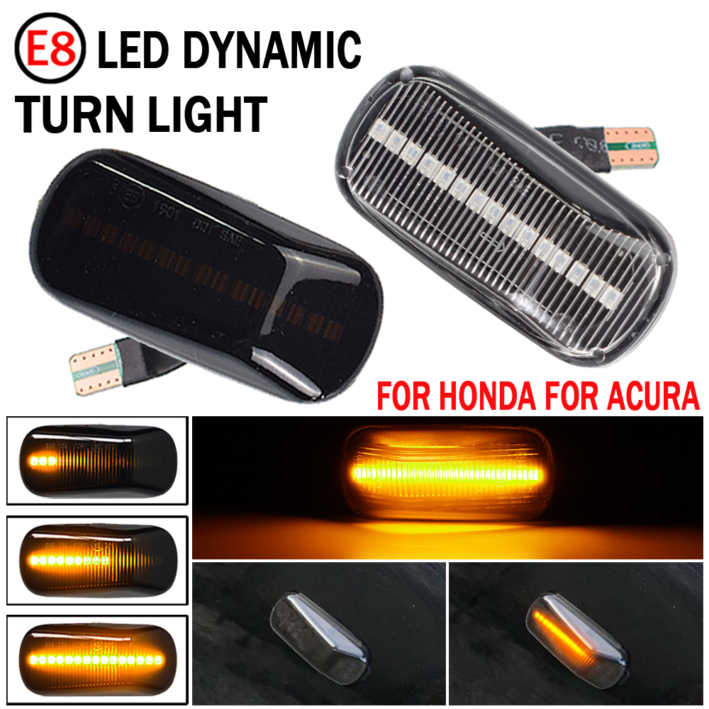 Indicador lateral de luz Led para Honda CRV, Accord Civic, Jazz Fit Stream Integra DC5, ciudad, Odyssey, Acura, RSX, NSX, 2 uds.