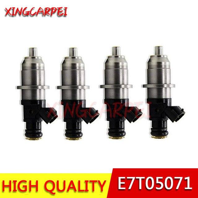 4 sztuk/partii E7T05071 wtryskiwacz paliwa nadające się do 2000-2006 Mitsubishi Carisma 1.8 GDI 1465A002 1465A003 1465A004 MR560552 E7T05071