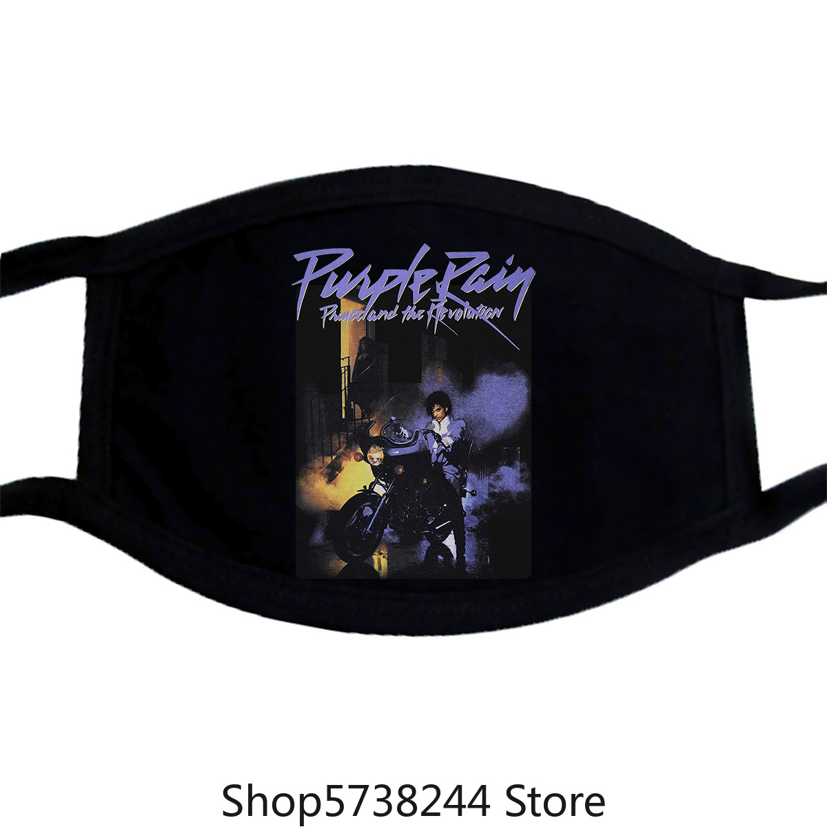 Prince Official Purple Rain Mask Bk Cotton Short Sleeve Mens Ladies Primark Top Tee 100% Cot