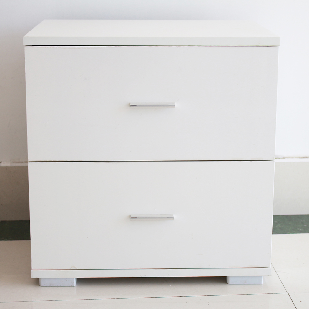 Bedside Table 59x40x51.5cm High Gloss Double Pumping Bedside Table Simple Night Table With Drawers For Bedroom As Useful Storage