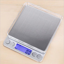 Kitchen-Scale Measurement Led-Display Digital with 2-Tray 6-Units Conversion-0.1garm